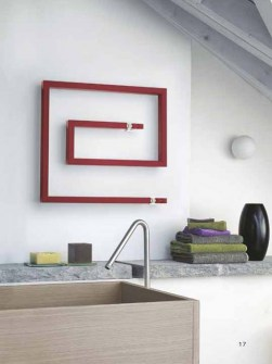 contemporary towel radiator, claret towel radiators, snail shape radiators