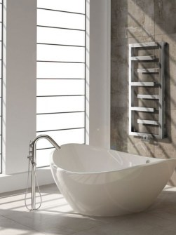 modern heated towel rails, chrome bathroom radiators, stainless steel heated towel rails
