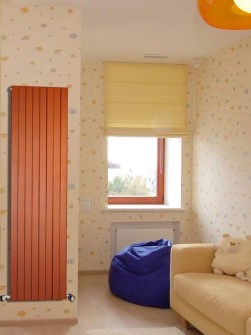 low temperature vertical radiators, low temparature radiators, orange radiators