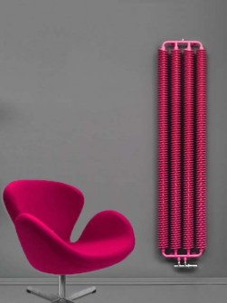 retro radiators, industrail style radiators, pink radiators