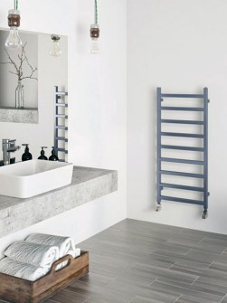 towel radiators, heated towel rails, room divider, blue radiators