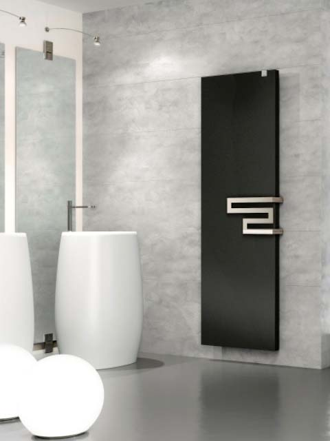 black bathroom radiators, shower room radiators, slimline bathroom radiators