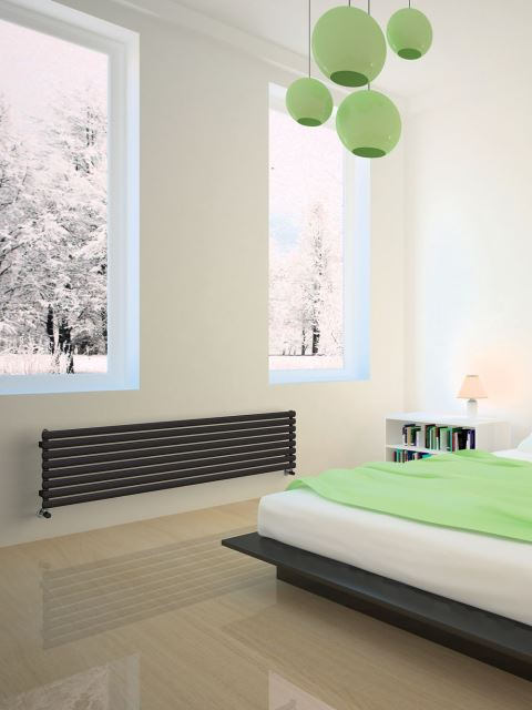 central heating radiators, horizontal radiators, high output radiators, coloured designer radiators horizontal