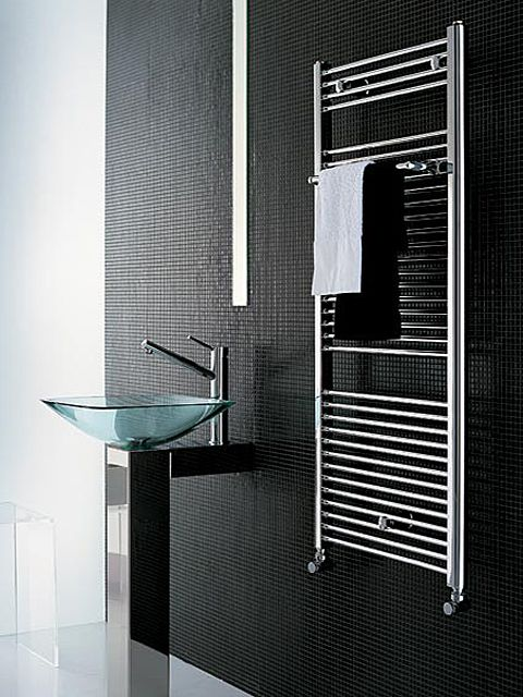 Stylish towel radiators small chrome towel warmer senia - Radiator badezimmer ...