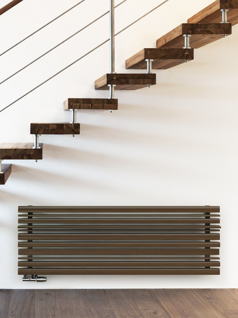 horizontal radiators, modern radiators, brown radiators