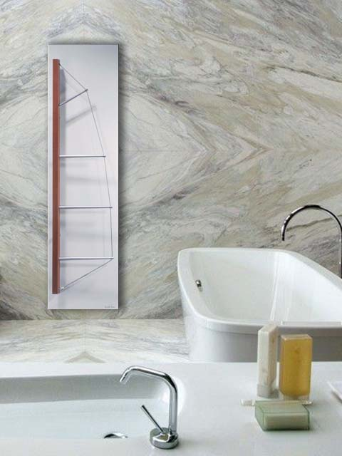 feature radiators, stone radiators, red radiators