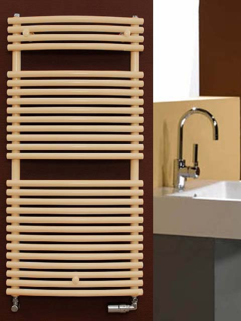 coloured towel radiator, beige towel radiator, cheap towel radiator